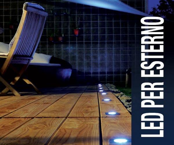 Illuminazione a led per esterno cobb produzione fibre for Illuminazione per esterni led